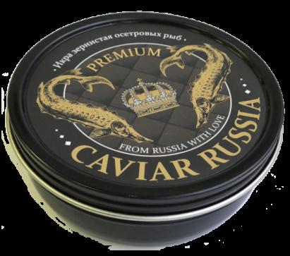 Икра зернистая осетровых рыб  «CAVIAR RUSSIA PREMIUM» ж/б 250гр