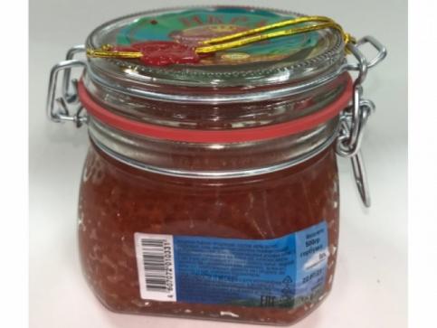 Красная Икра Горбуши Сахалинская Высший сорт бугель (500гр)