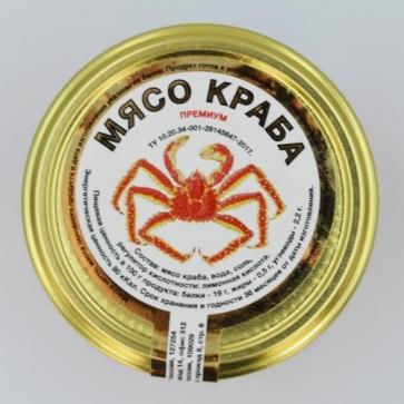 Мясо Краба Премиум в стеклянной банке (430гр)