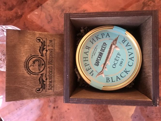Черная икра в эксклюзивном подарочном боксе (250гр)