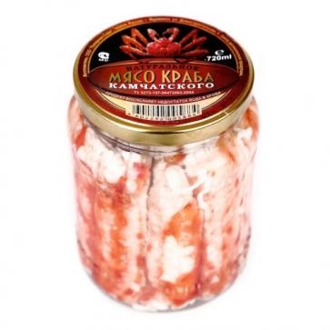 Мясо Краба Премиум в стеклянной банке (720гр)